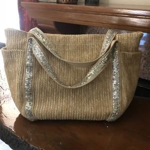 Woven & Sequin Tote Bag